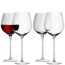 Aurelia red wine glasses clear optic set of 4