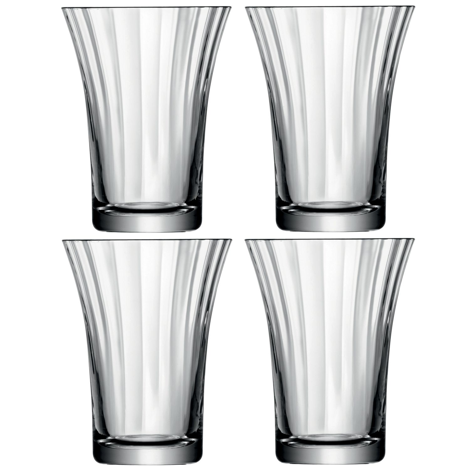 Aurelia tumbler glasses clear optic set of 4