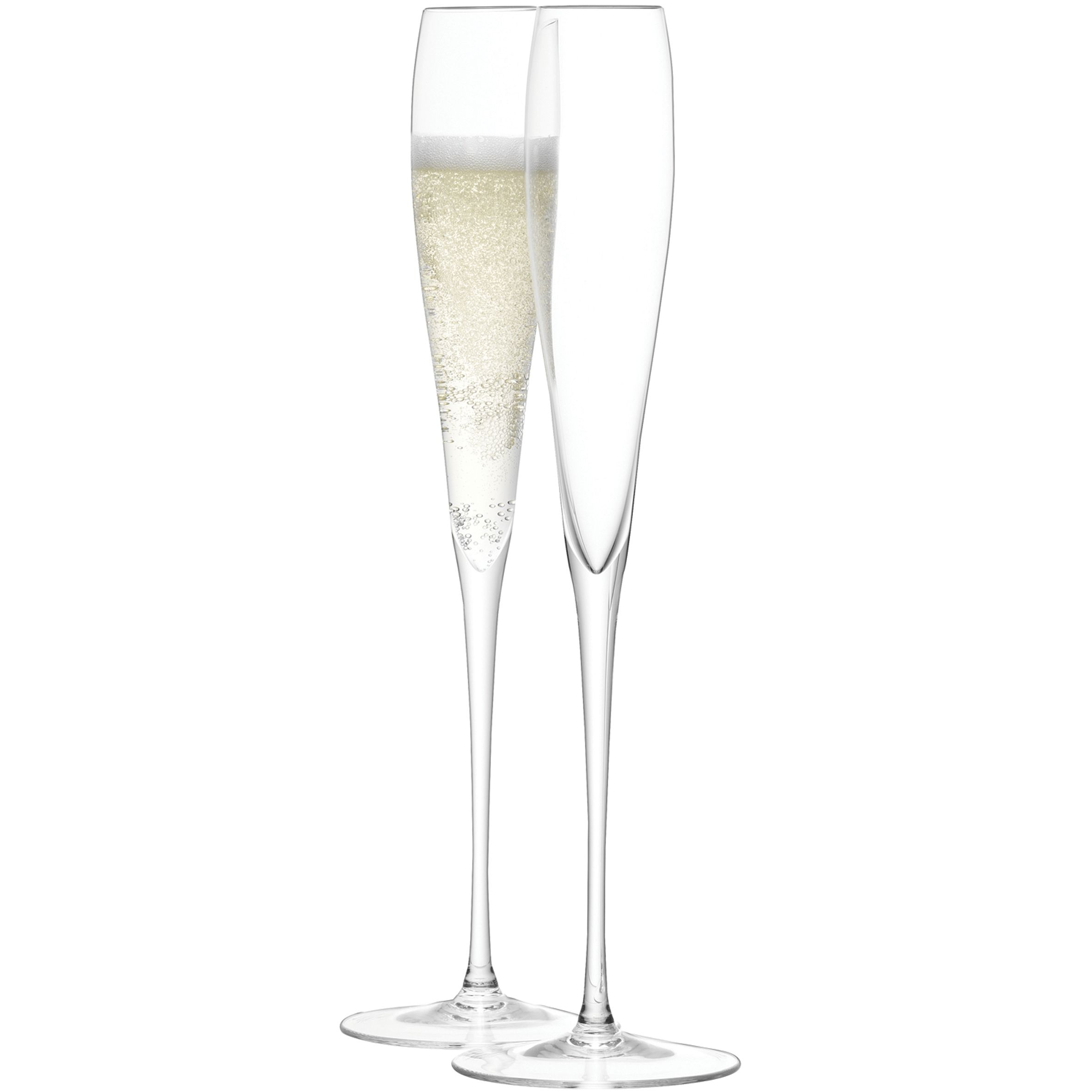 Wine grand champagne flute clear set of 2