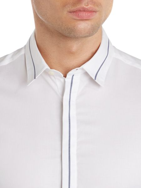 Kenneth Cole Clifford contrast collar and cuff detail shirt