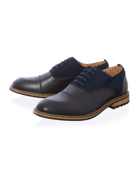 Peter Werth Turnmill suede & leather oxford shoe