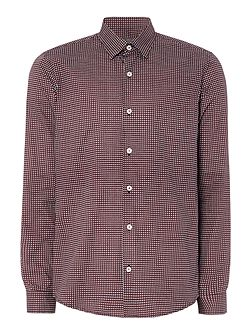 Box print long sleeved shirt