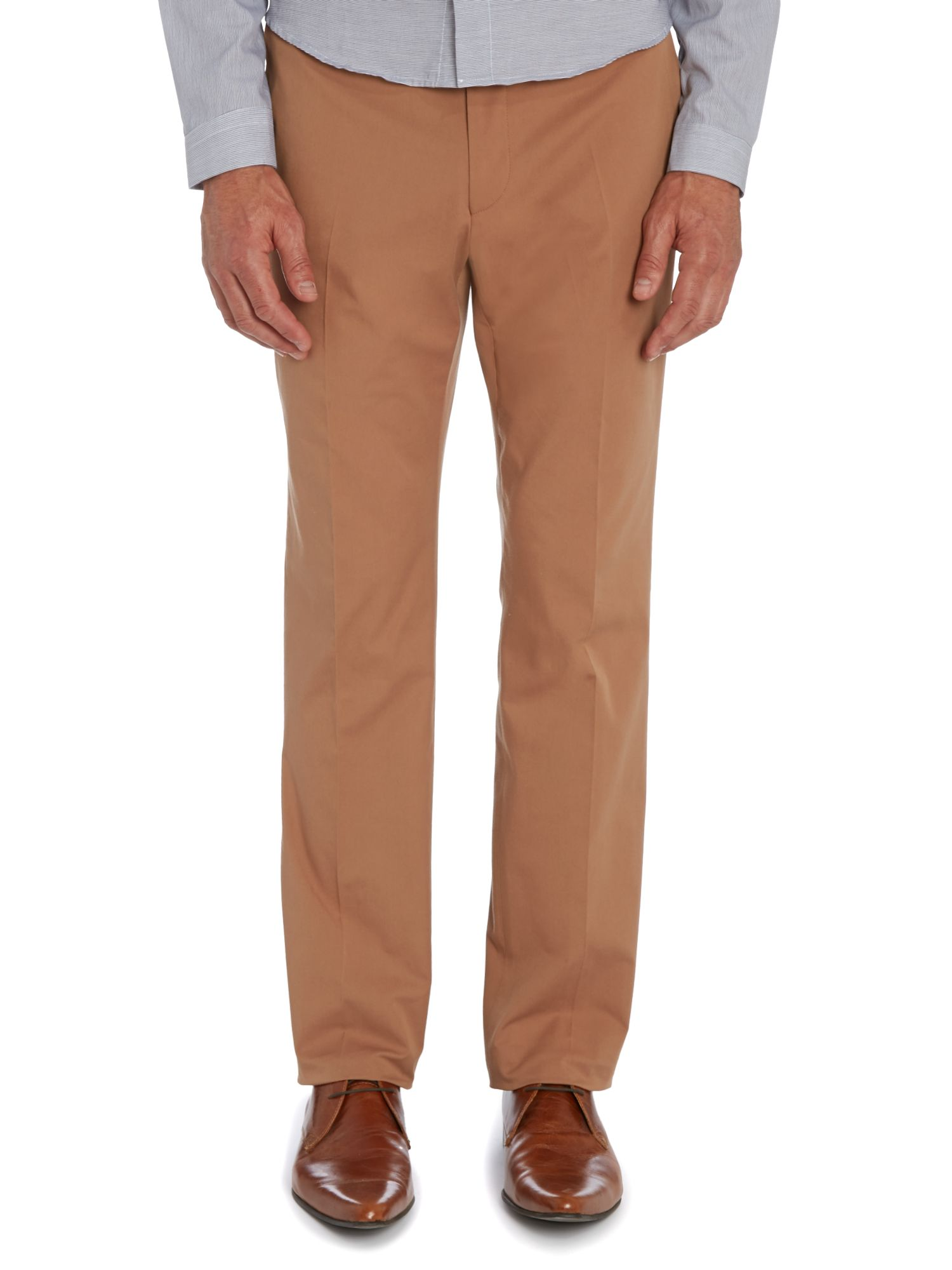 N.1 cut flat fronted trousers
