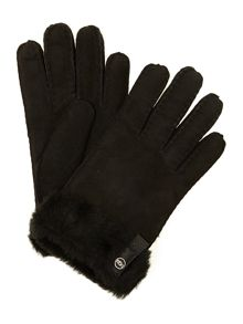 UGG Tenney glove with leather trim
