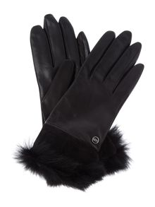Quinn leather glove qwith toscana trim