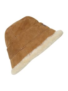 Shearling city bucket hat
