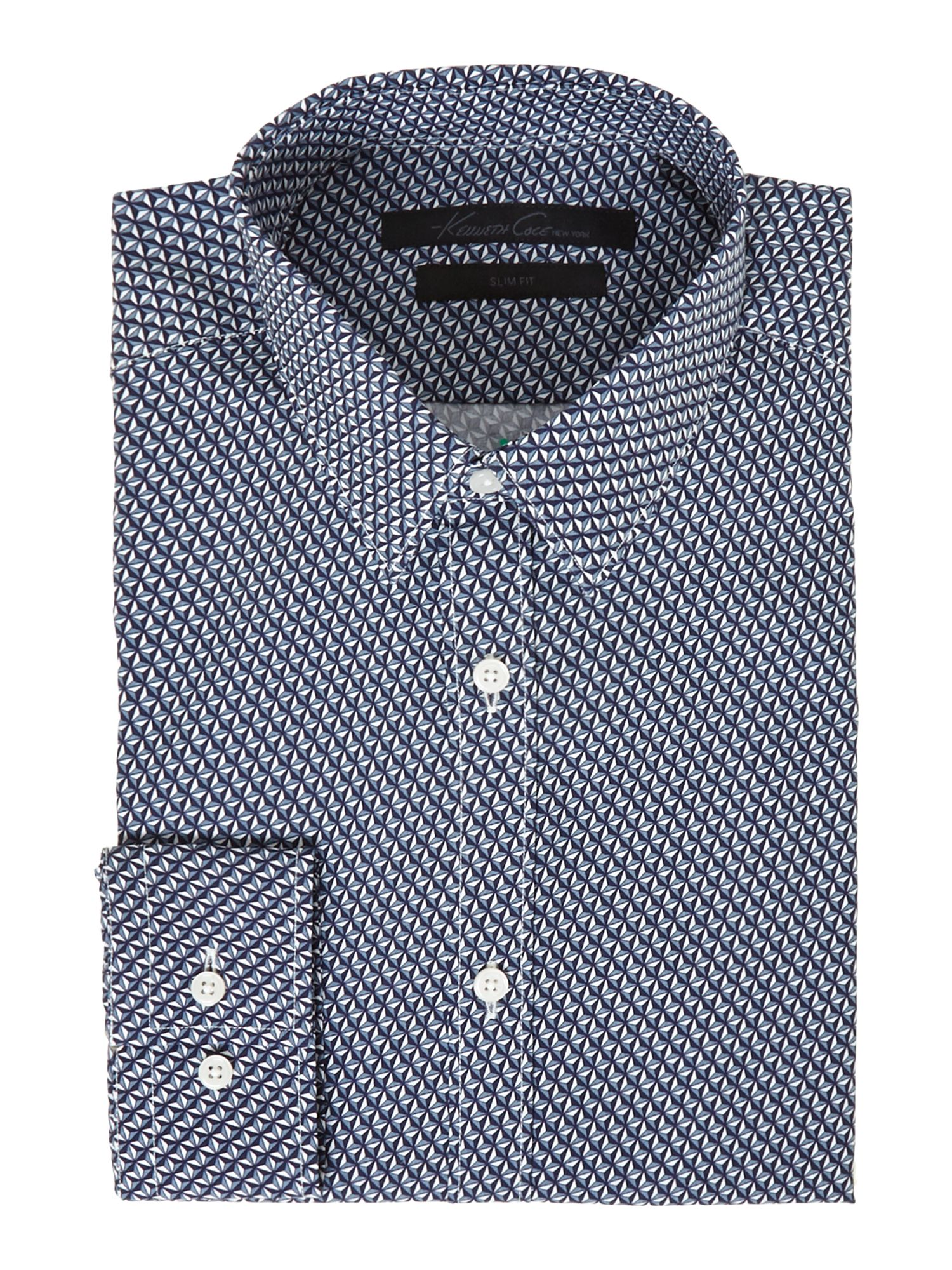 Cobek diamond geo print shirt