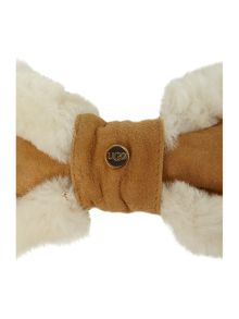 Shearling carter bow headband