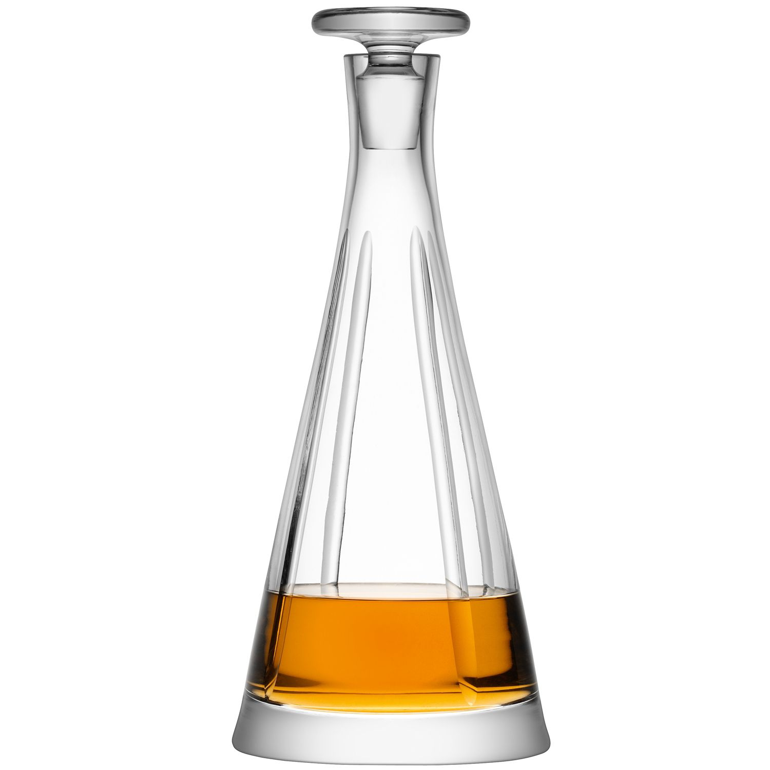 Charleston decanter 0.7L stripe cut