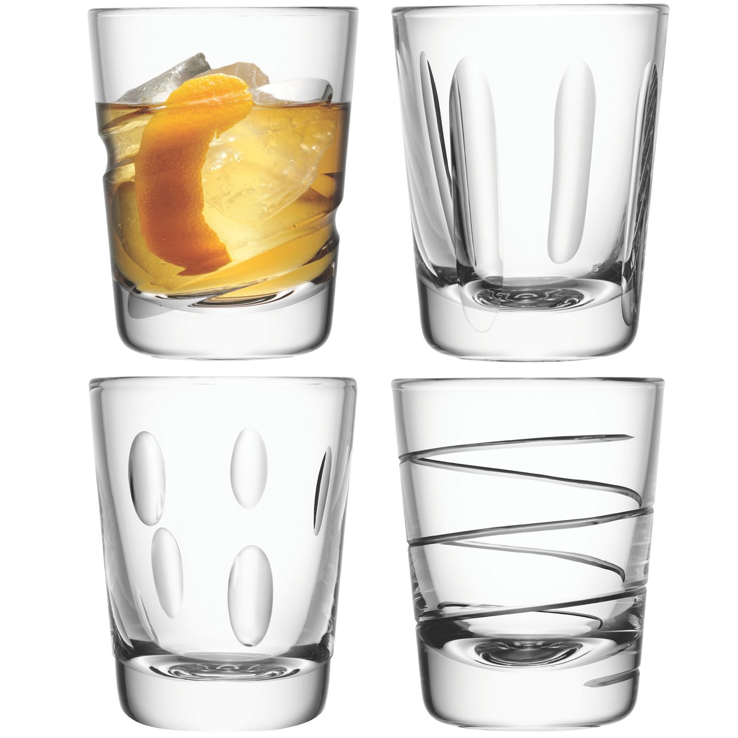Charleston tumbler asstd cuts set of 4