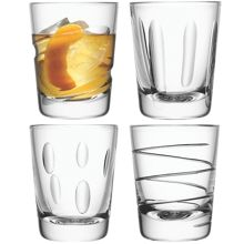 LSA Charleston tumbler asstd cuts set of 4