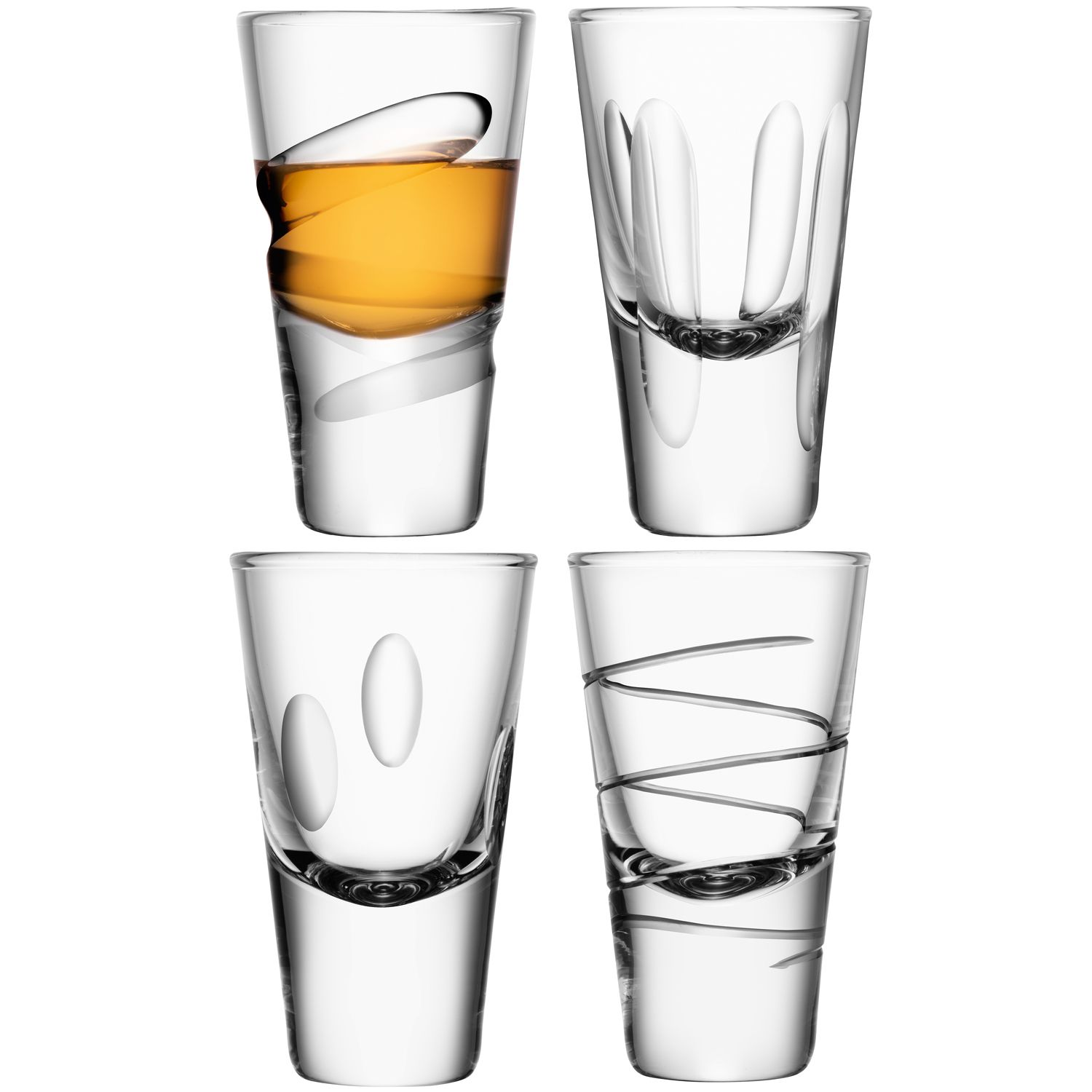 Charleston vodka glass asstd cuts x4