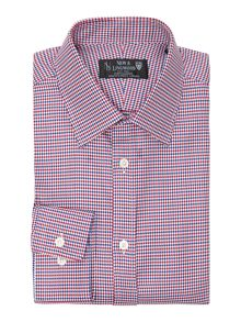 New & Lingwood Pembroke dogtooth twill shirt