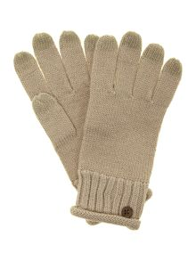 Nyla bailey touch screen glove with lurex