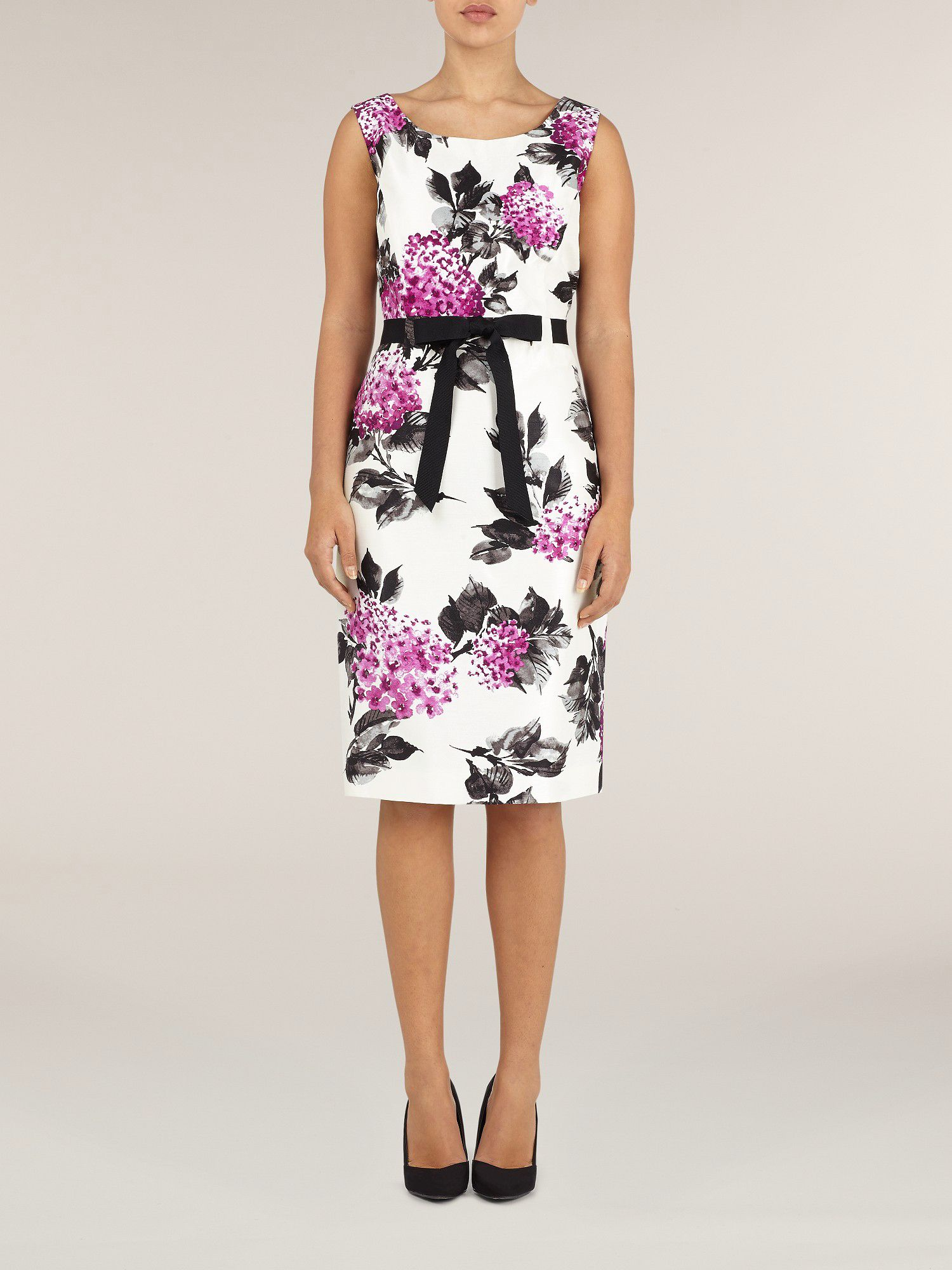Magenta floral shift dress