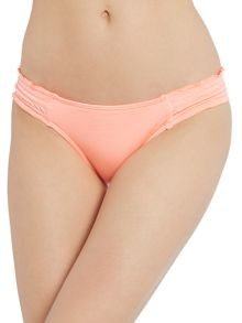 Shimmer shirred hipster bikini brief