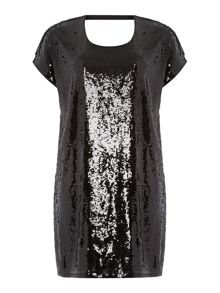 Plus Size Short sleeve sequin shift