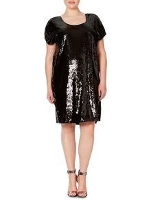 Juna Rose Plus Size Short sleeve sequin shift