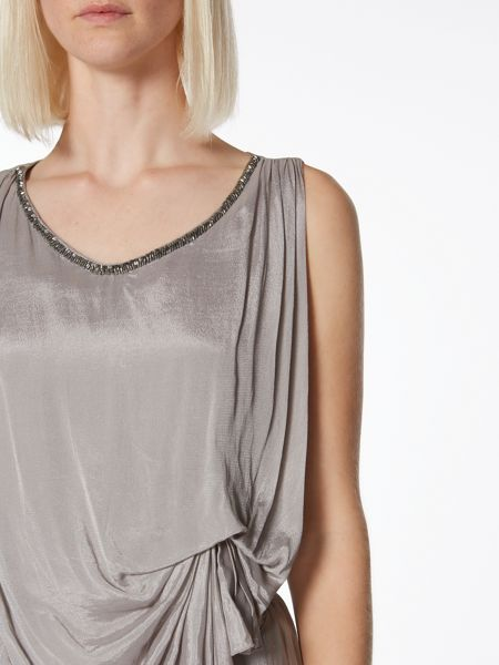 Label Lab Embellished draped dress
