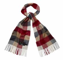 Large tattersall lambswool scarf