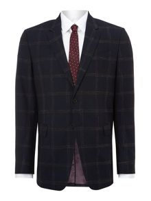 Byard slim fit painted large check suit
