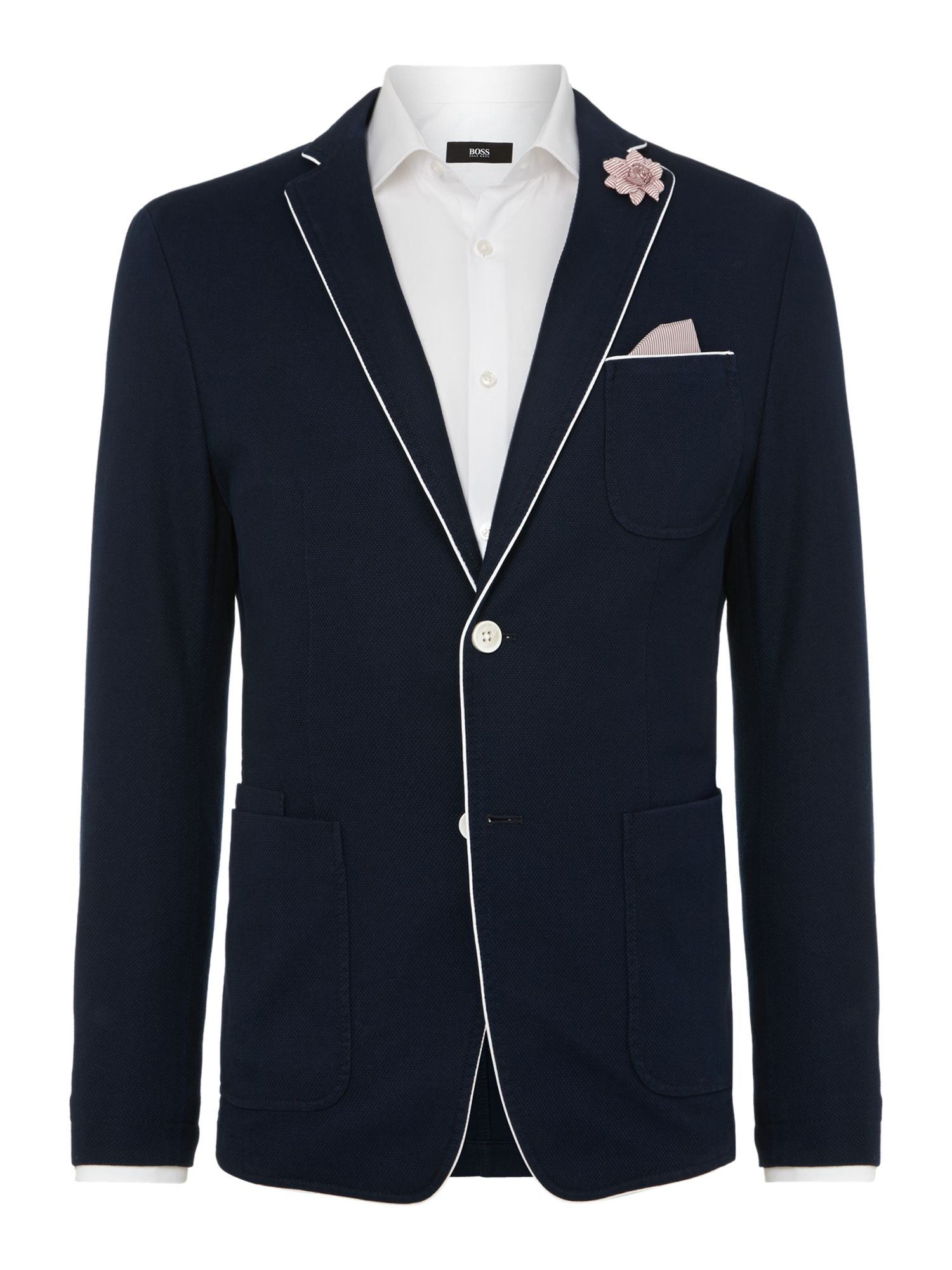 Three pocket pique blazer
