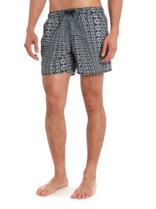 All over print contrast logo swim short