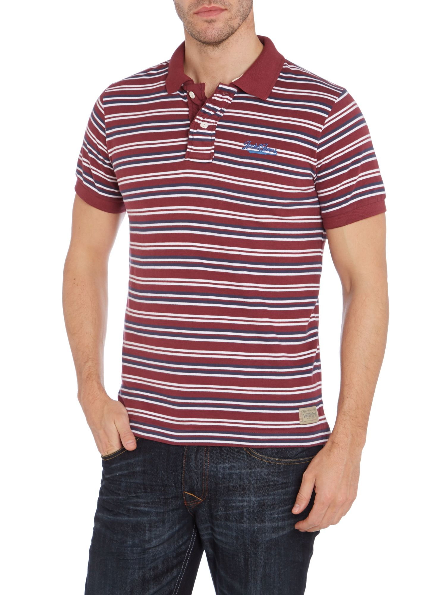 Lean striped polo shirt