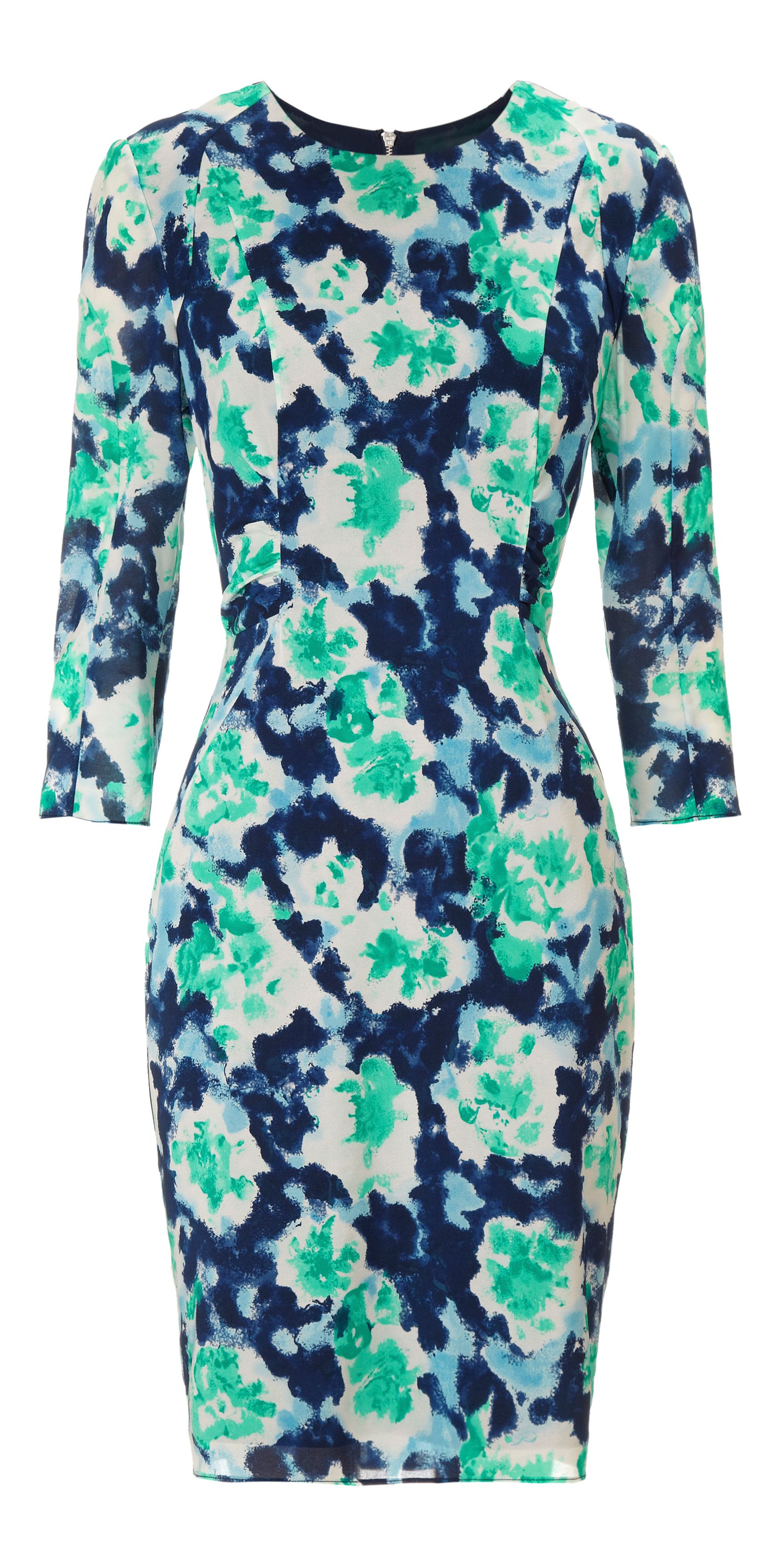 Lorie powdered floral bodycon