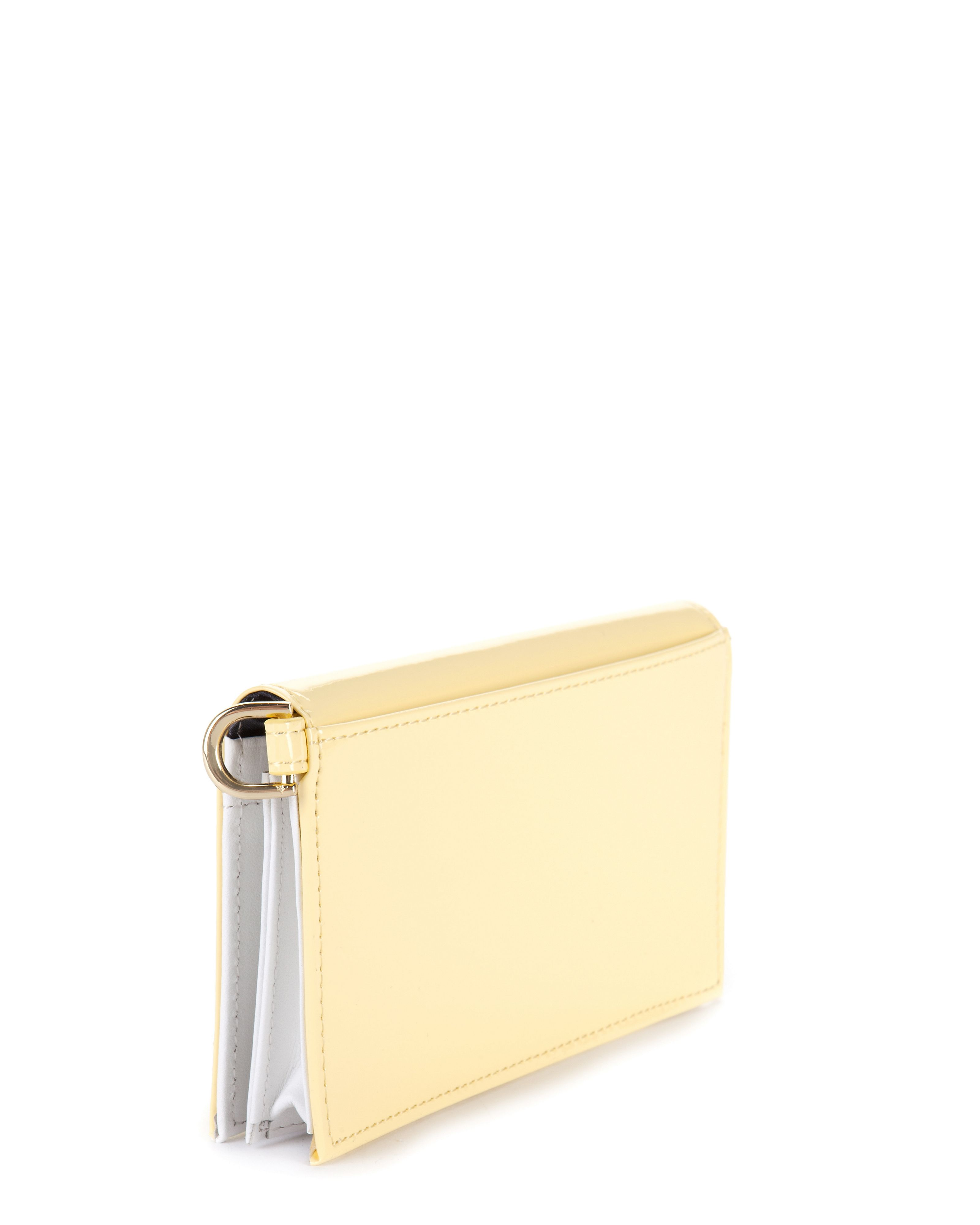 Elorna patent leather phone and card case