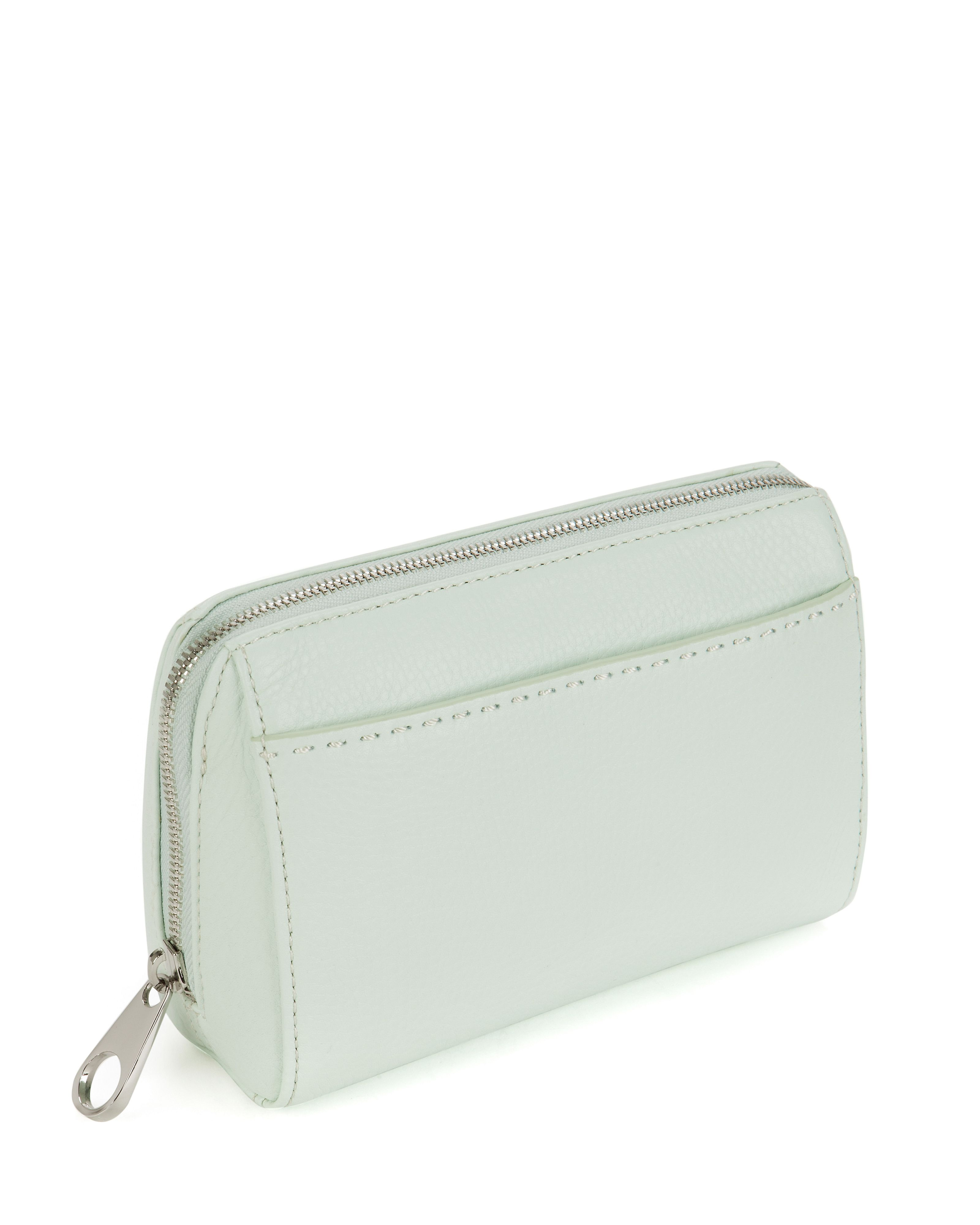 Edna leather wash bag