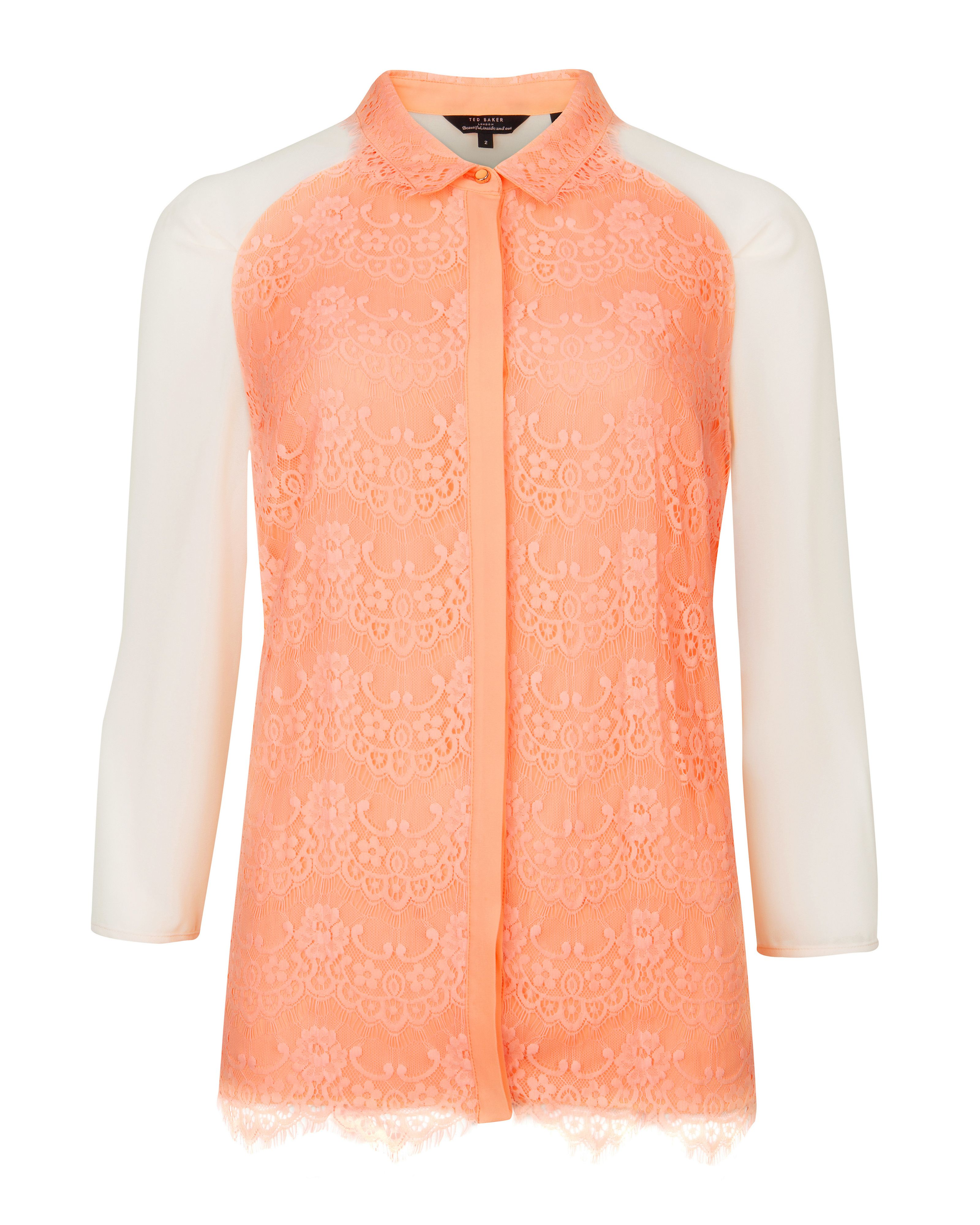 Abra lace detail shirt