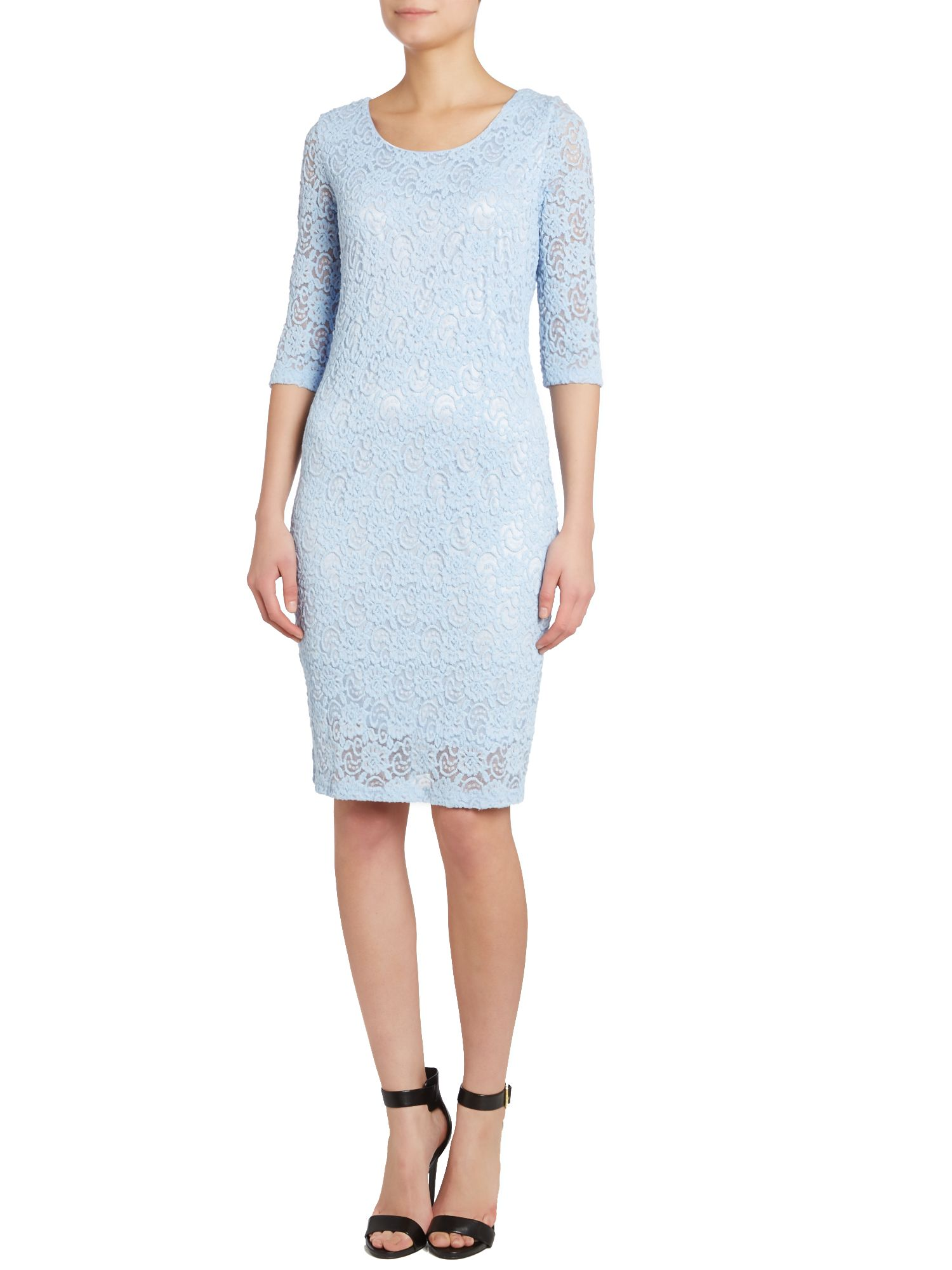 Lace layer midi dress