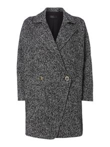 Double breasted cocoon wool coat
