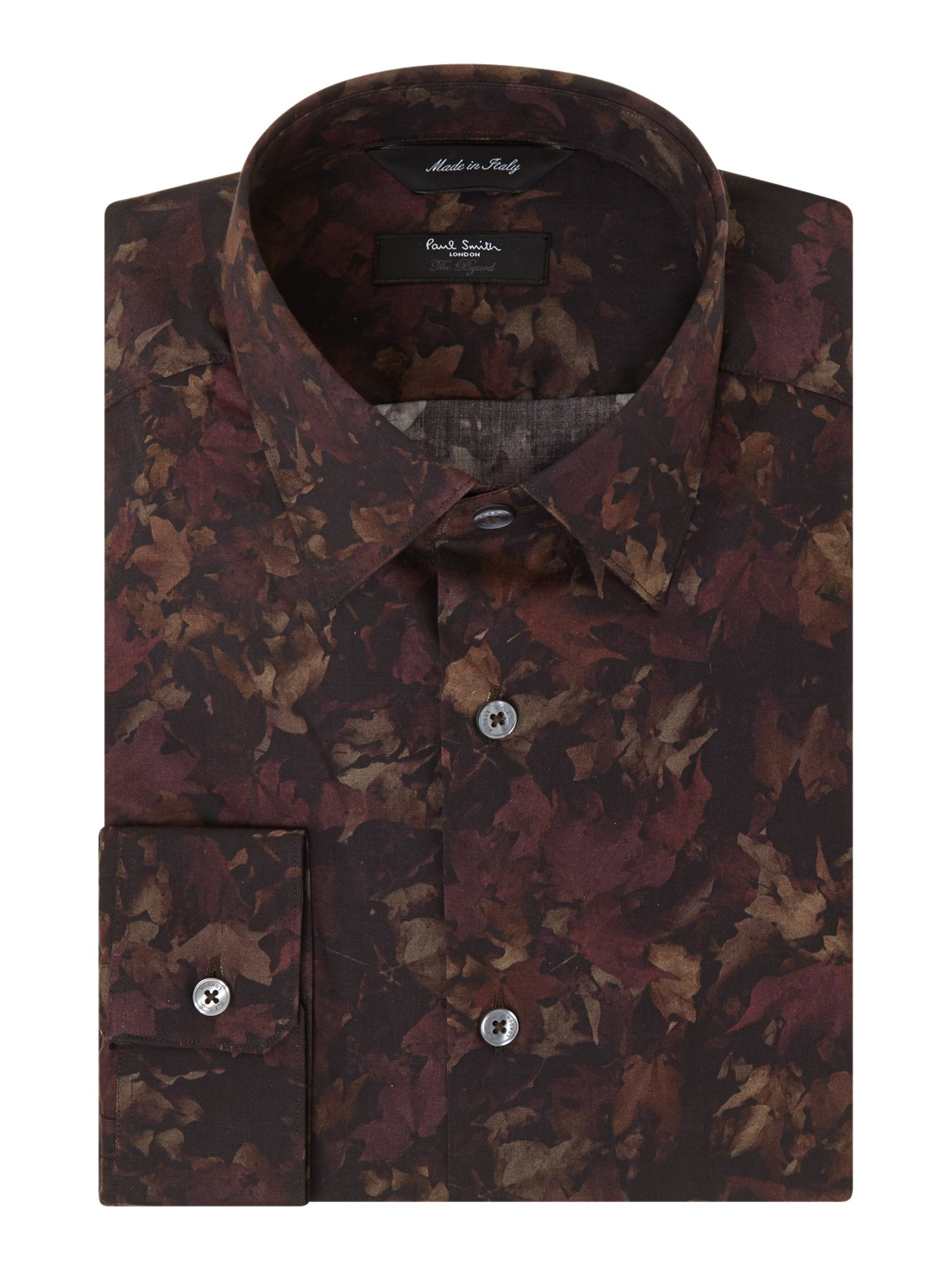 Slim fit vintage leaf shirt