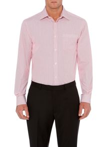 Federal twin stripe single cuff shirt with pocket