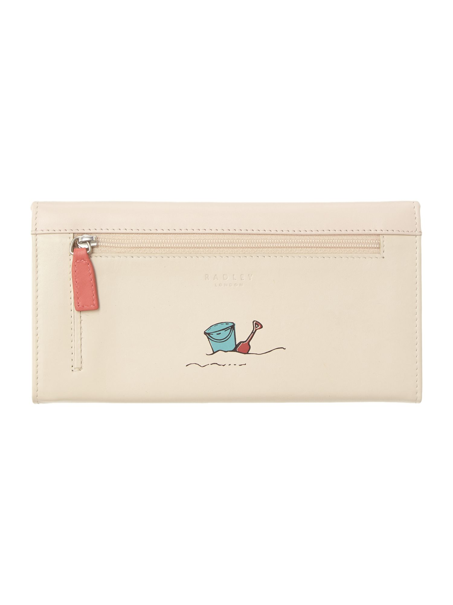 Fun in the sun large flapover leather purse