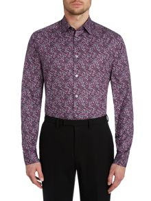 Slim fit ditsy floral shirt