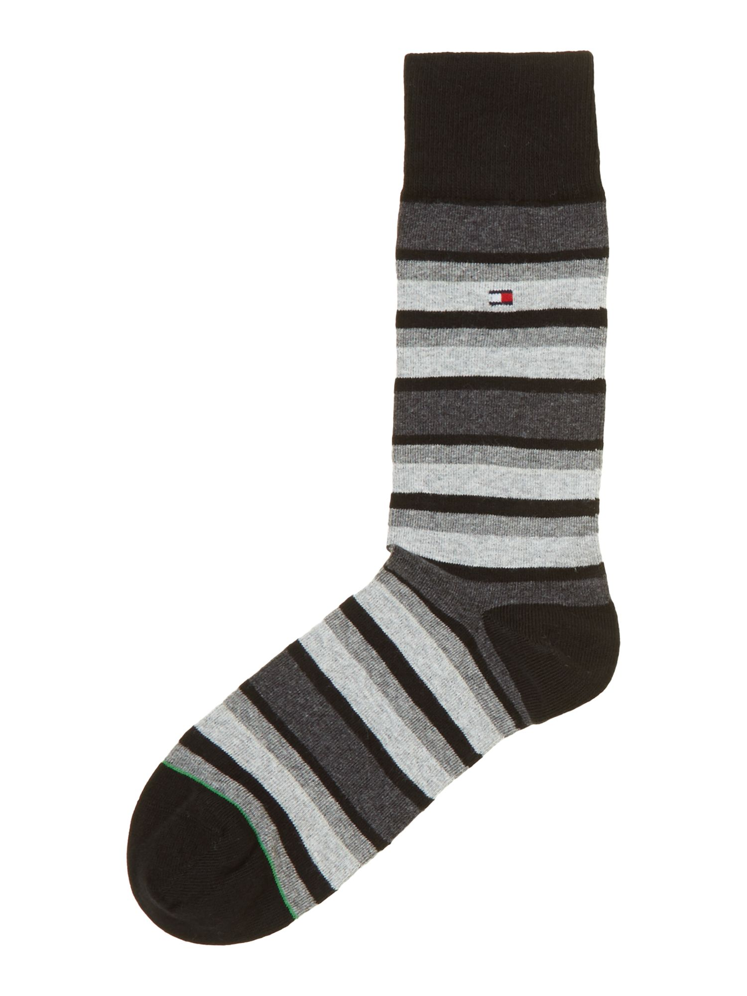 2 pack stripe and plain trainer sock
