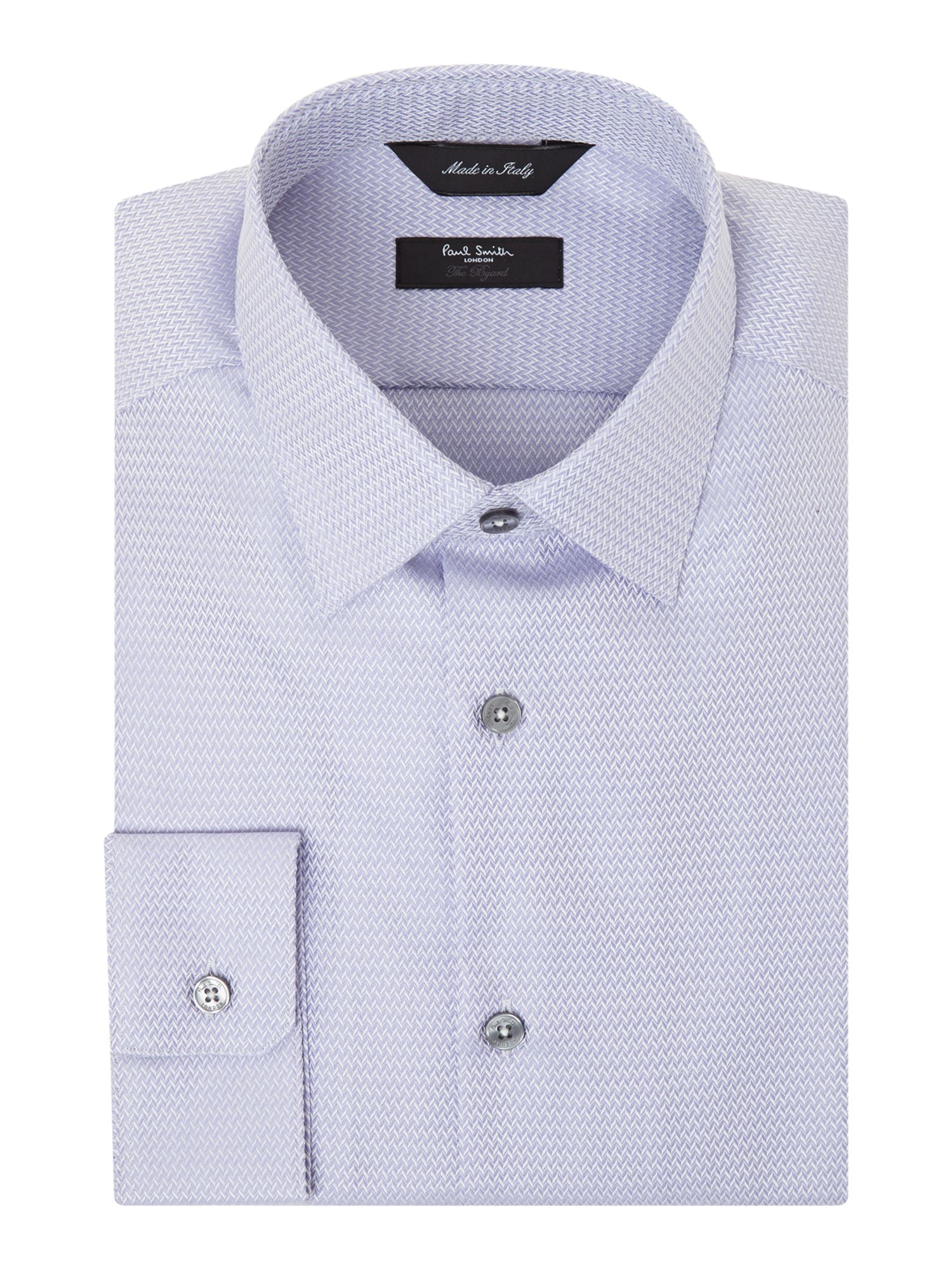 Slim fit herringbone jacquard shirt