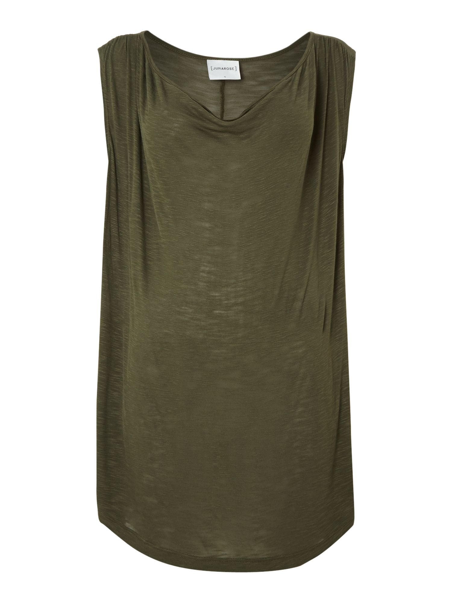 Sleeveless cowl neck top