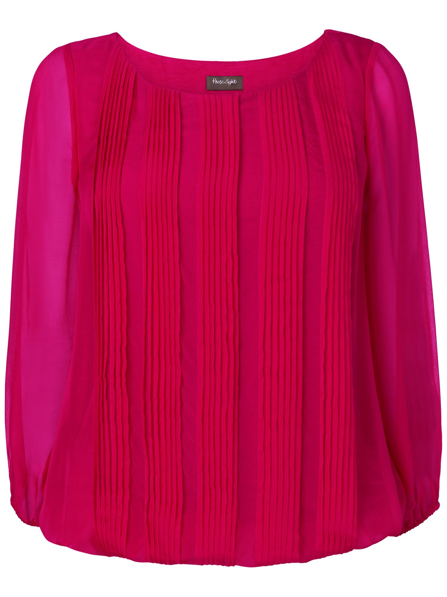 Eliza pleated silk blouse