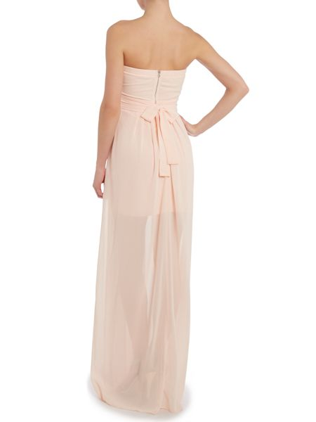 tfnc Strapless embellished top maxi dress