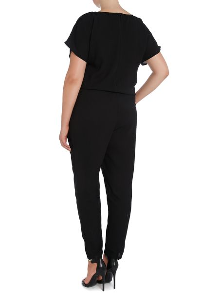 Juna Rose Short sleeve jumpsuit with drawstring waist