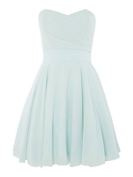 tfnc Strapless fit and flare dress