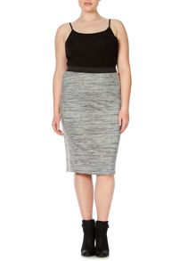 Plus Size Bodycon below knee skirt