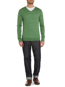 Machine Washable Merino V Neck Jumper