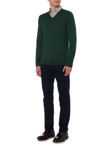 Linea Machine Washable Merino V Neck Jumper