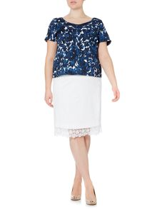 Fiorito short sleeve floral print top