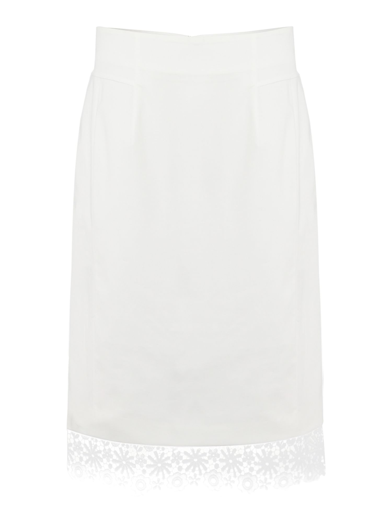 Ciocca below the knee lace trim skirt